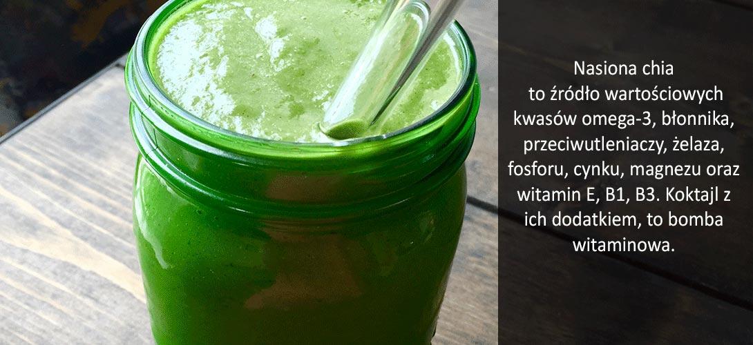 koktajl Witaminowe smoothie z granatem i nasionami chia – wypróbuj przepis!