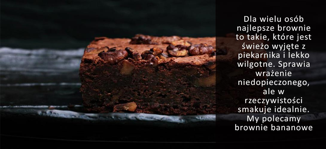brownie-bananowe Bananowe brownie - IDEALNE DO KAWY!
