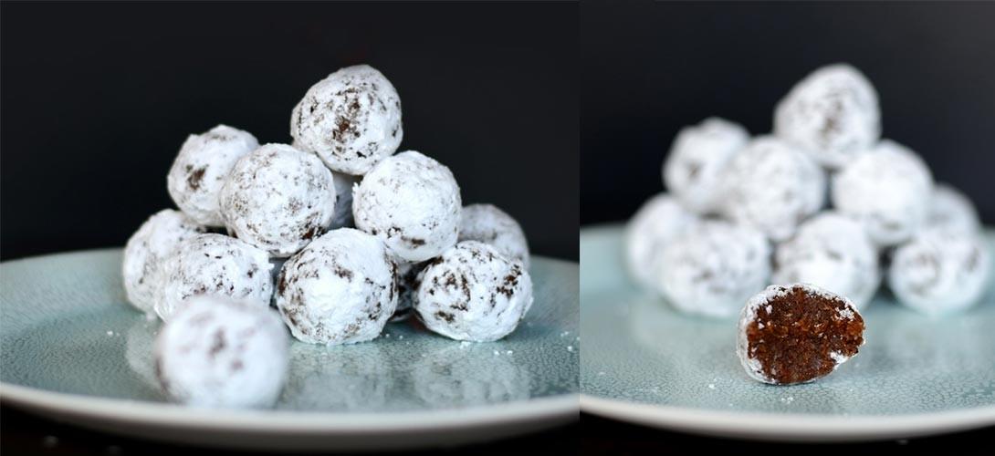 sniezne-kule Przepis na ciasteczka świąteczne – kule śnieżne bez pieczenia!
