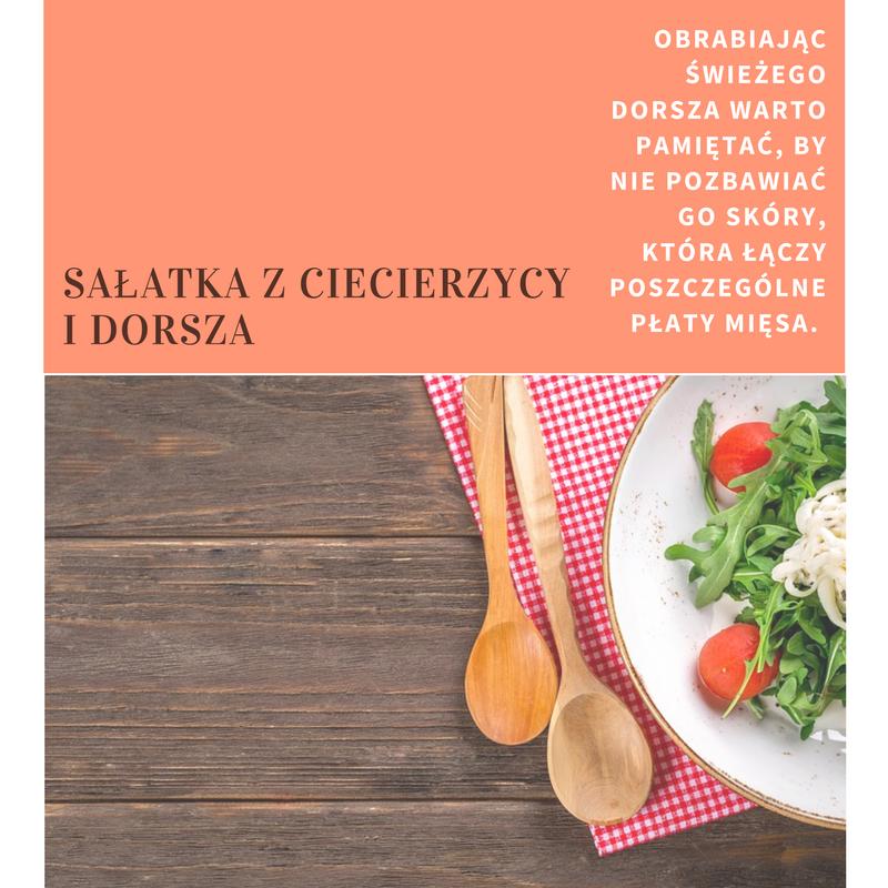 zdrowa_salatka Pyszne sałatki na imprezę: Sałatka z ciecierzycy i dorsza