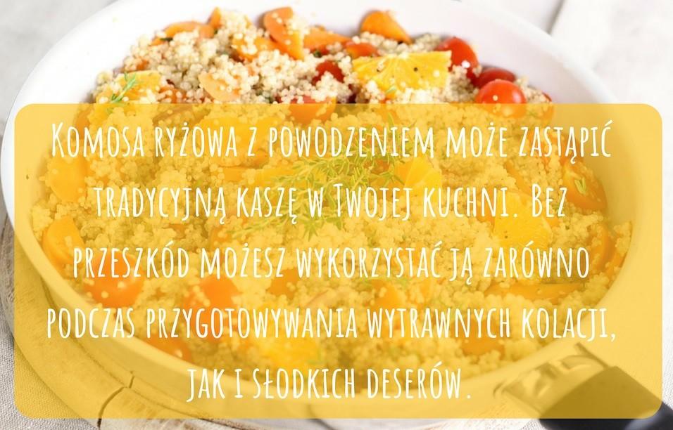 INFOGRAF Komosa ryżowa – idealny sposób na szybki i smaczny obiad