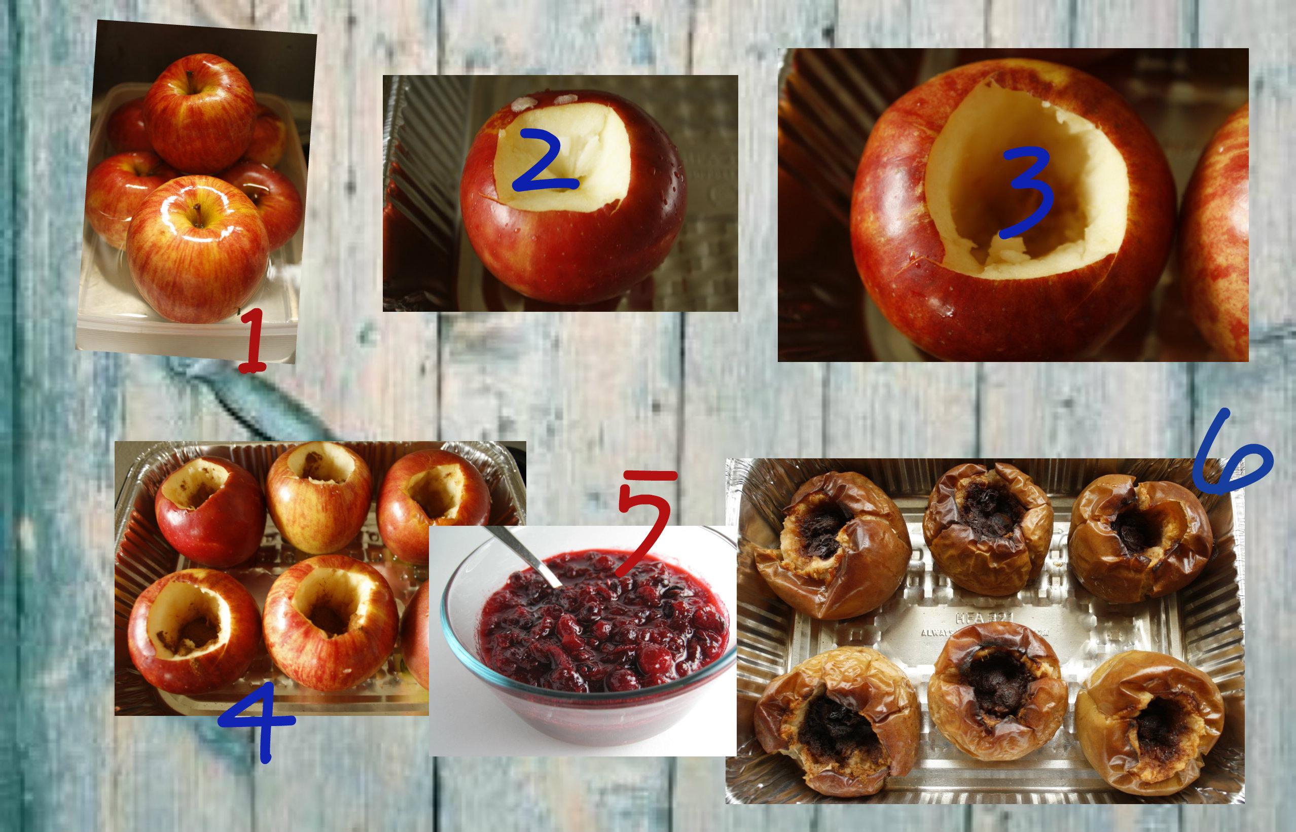 tło-tło Pieczone jabłka - Pyszna przekąska dla osób na diecie