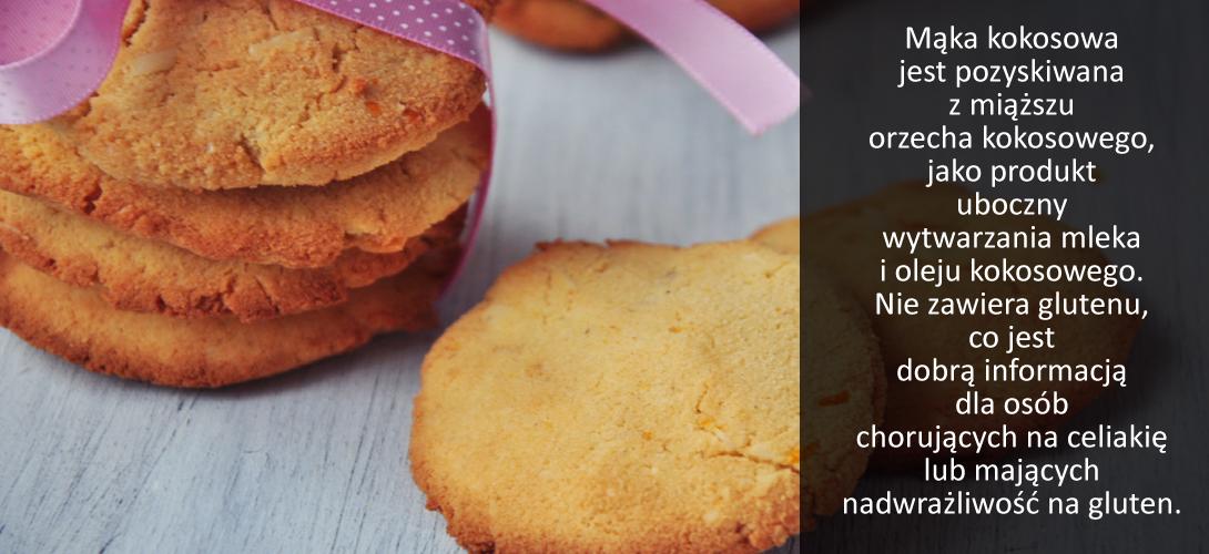 ciasteczka Mąka kokosowa - przepis na pyszne ciasteczka z jej dodatkiem. W sam raz na weekend!