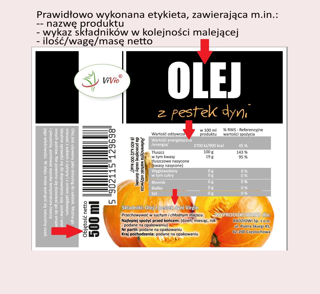 etykieta_vivio Etykiety produktów spożywczych.Na co warto zwrócić uwagę przyżywności konwencjonalnej i ekologicznej?